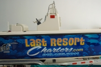 Last Resort Charters Boat Wrap