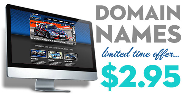 Domain Names 73% Off